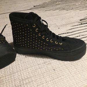 Vans studded high top platform sneaker